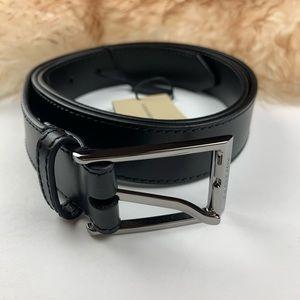 Burberry Black Leather Belt 40/100 New
